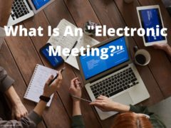electronic meeting